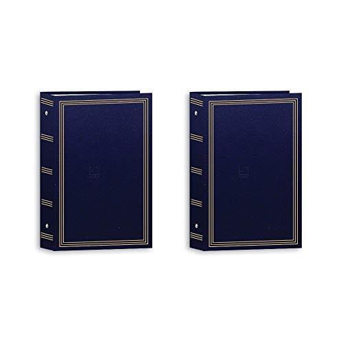 Pioneer Photo Albums Aps 3-Ring Bi-Directional Le Memo Album Navy Blue