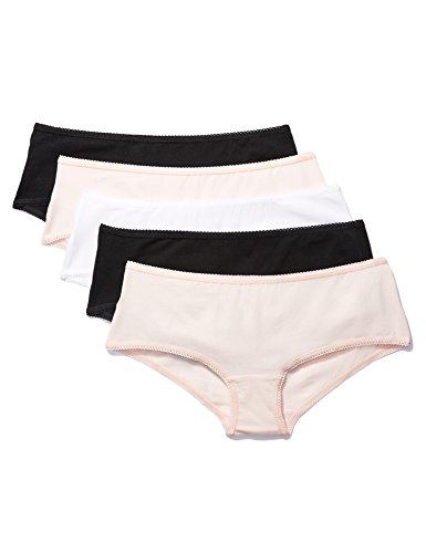 Amazon-Marke: Iris & Lilly Damen Hipster Belk006m5, Mehrfarbig (Black/Soft Pink/White), XL, Label: XL