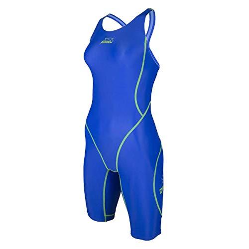 ZAOSU Wettkampf-Schwimmanzug Z-Blue für Mädchen und Damen in blau, Größe:40