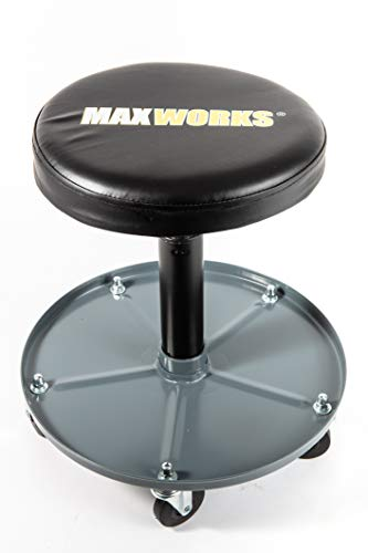 MaxWorks 80771 Pneumatic Roller Seat/Creeper with Adjustable Height - 350 lb Capacity