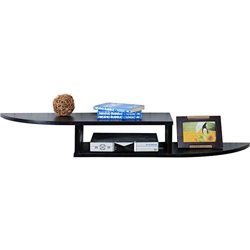 Zwevende rekken Top Box rek decoratie wand meubels TV router plank set slaapkamer modern (zwart)