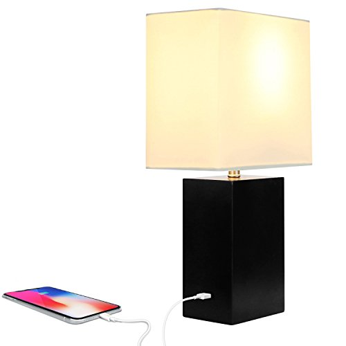 Brightech Mode LED USB Side Table & Desk Lamp – Modern Lamp for Bedroom, Living Room or Office with Ambient Lighting…