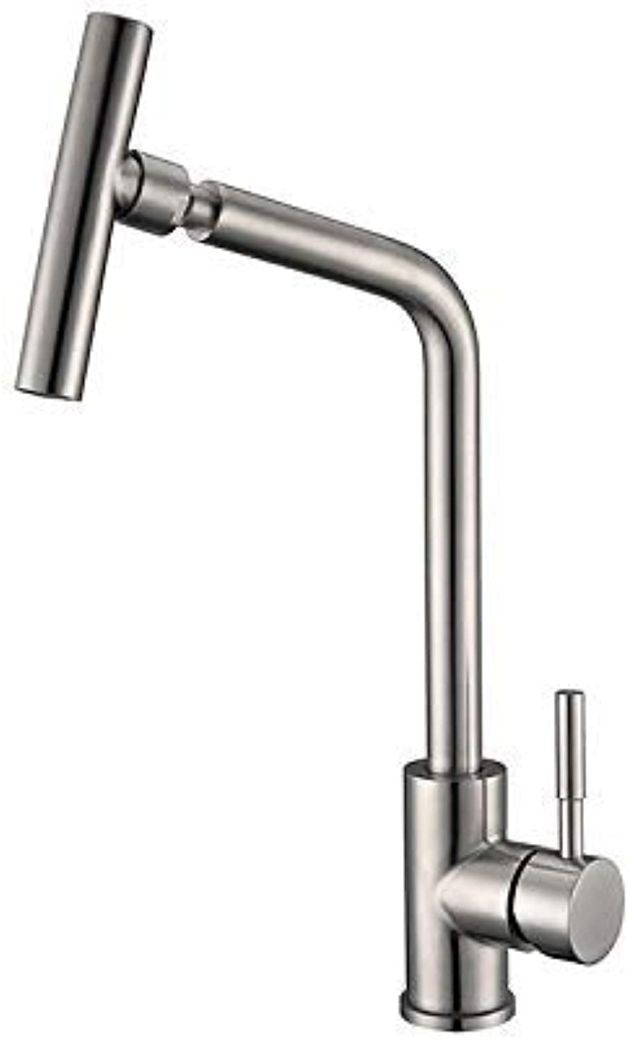 Oudan Lead Sus304 Stainless Kitchen Faucet Mixing Hot and Cold Water Faucet Lavatory (color   -, Size   -)