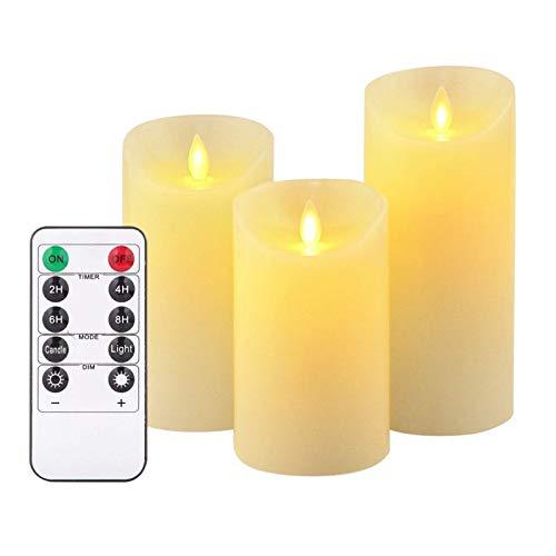aolongwl - Velas electrónicas sin llama LED, funciona con pilas, para bodas, cumpleaños, festivales, decoración, romántico