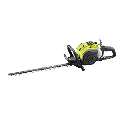 Ryobi Heckenschere Benzin, Gartengerät mit drehbarem Handgriff, mit Sägefunktion, 55 cm Schwert, RHT25X55R