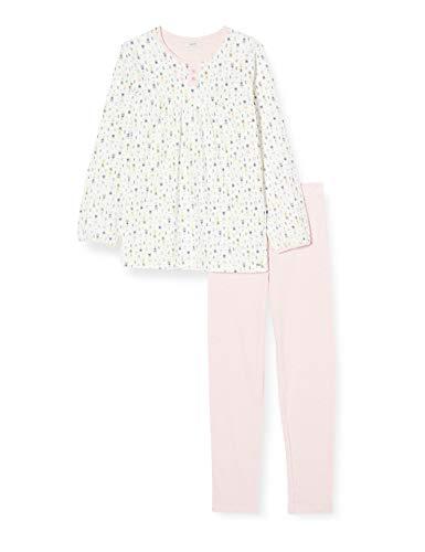 ESPRIT Mädchen Bekka Mg Pj.A.Ls_Ll Zweiteiliger Schlafanzug, Weiß (Off White 110), 128 (Herstellergröße: 128/134)