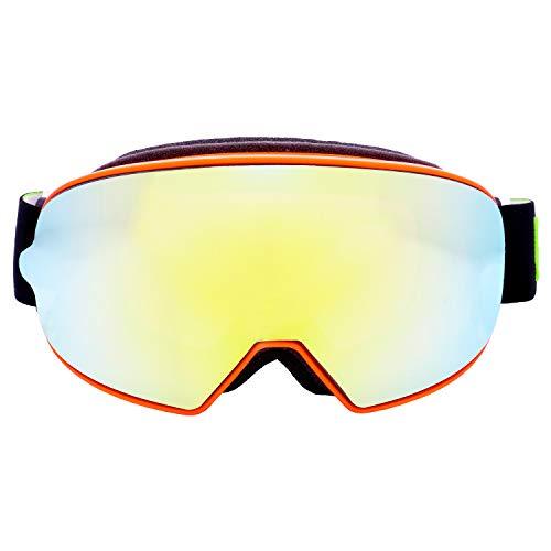 Broken Head Made2Rebel MX Goggle Orange - Motorrad-Brille Für Motocross, Enduro - UV-Schutz & Goldenes Wechsel-Glas