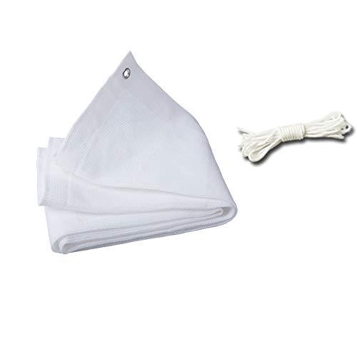 Nologo Vela de Sombra Velas de Sombra-Rectangular, Toldo Protección UV for al Aire Libre Patio jardín, Blanco (Size : 1x2m)