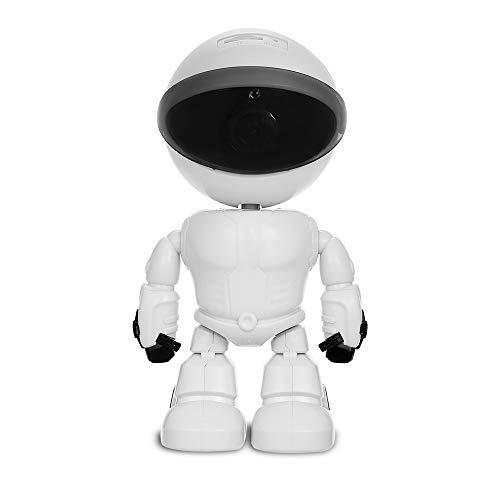 OWSOO 1080P Cámara IP WiFi con Apariencia del Robot, Soporte P2P, Visión Nocturna, Detección de Movimiento, Audio Bidireccional, Control de App, con Ranura para Tarjeta TF(Tarjeta TF no Incluida)