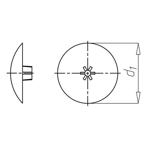 10 stuks schroefdoppen AW20 Torx T20 TX20 WURTH 0590720101 kunststof kop 12 mm wit RAL 9010 wit schroefdoppen afdekkappen schroefdoppen platte schroeven