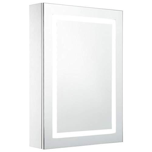 vidaXL LED Bad Spiegelschrank Spiegel Badspiegel Hängeschrank Badschrank Badezimmerschrank Badezimmerspiegel Hängespiegel 50x13x70cm