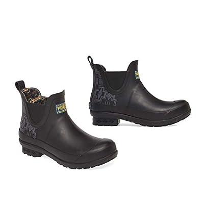 Pendleton Women's Heritage Print Chelsea Slip-Resistant Rain Boot, Harding Black, Size 6