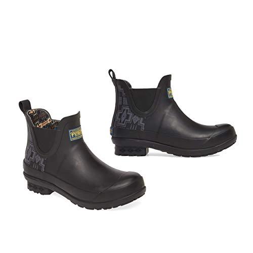 Pendleton Women's Heritage Print Chelsea Slip-Resistant Rain Boot, Harding Black, Size 7