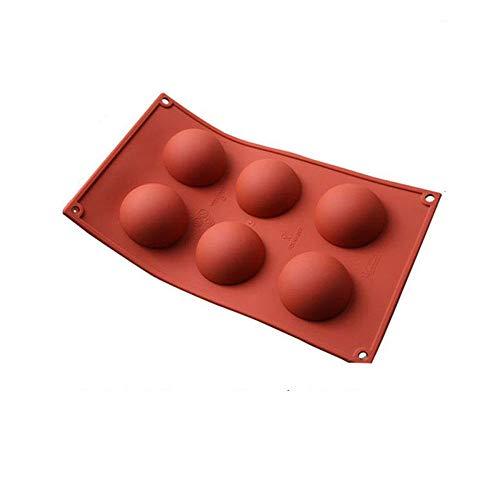 Silicone Hémisphérique 6/15/24 Trous Accessoires De Cuisson De Qualité Alimentaire Moule À Gâteau Au Chocolat Ustensiles De Cuisson Ustensiles De Cuisine-6 Trous
