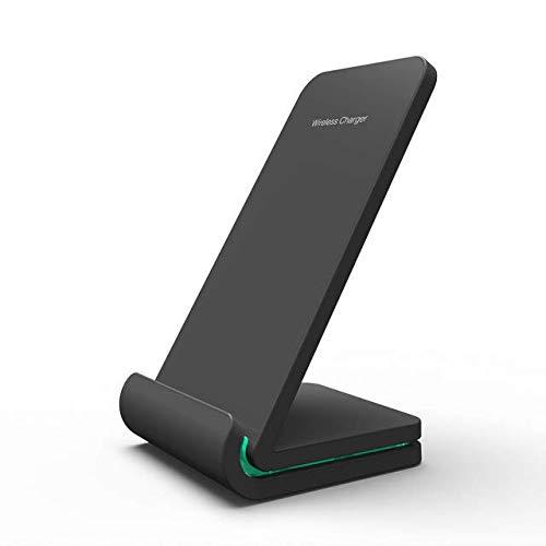 LOOKit 10W C2-S zwart Fast Wireles Qi oplader voor Google Pixel 3/4 Samsung Galaxy S20 S10 e + 5G Plus Ultra Note 10 9 Sony Xperia 1 II LG G8X G8S ThinQ iPhone SE 11 X XS