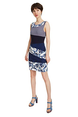 Desigual Dress Sleeveless Olivia Woman Blue Vestido, Azul (Marino 5001), XXL para Mujer