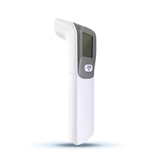 Heavy Duty No Contact Infrared Forehead Thermometer High Caliber Sensor Digital Infrared for No Contact with LCD Display |Medical Hospitals Offices|Adults and Babies| Repetitive Use| Touch Less