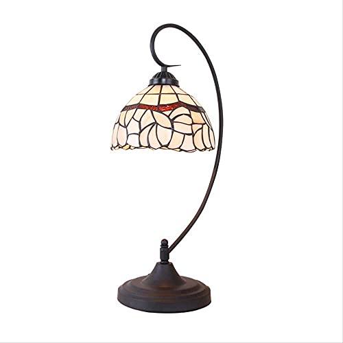 DIMPLEYA Lámpara de Mesa Retro lámparas Tiffany para Dormitorio, Lirio lámpara de Mesa jardín Dormitorio de Noche messita de mesita Estudio Simple