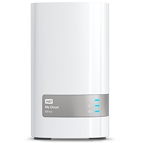 Western Digital 4TB (2x2TB) My Cloud Mirror Gen 2, NAS 2 Bay, Persönlicher Cloud Speicher, Media Server, Backup, Handy und Tablet Sicherung, Syncronisations Software