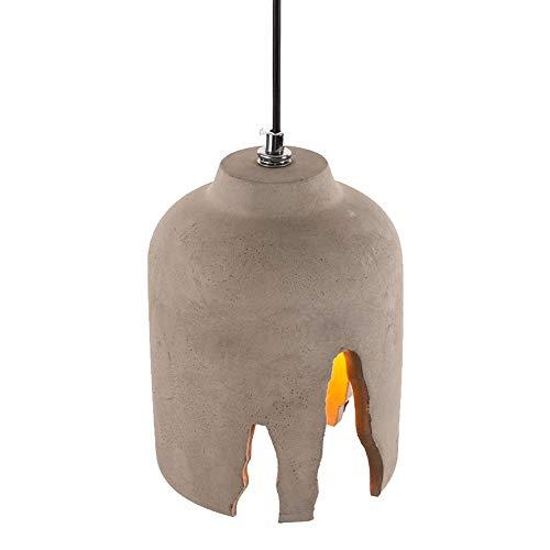 Chuangjie Retro beton hanglamp cement lamp in hoogte verstelbaar licht grijs loft eettafel verlichting woonkamer keuken hal balkon E27 Ø 16 x H 22 cm