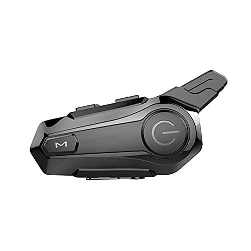 Staright Intercomunicador BT para Motocicleta con Casco de Radio FM, Auriculares BT, Sistema de comunicación Universal Impermeable para Motocicleta ATV Dirt Bike