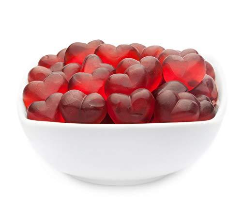 1 x 700g Fruchtsaftgummi Herzen mit Himbeersaft aus Fruchtsaftkonzentrat glutenfrei laktosefrei