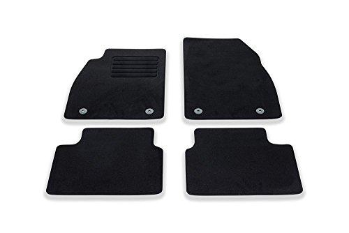 Juego de alfombras para Opel Insignia (terciopelo, 4 piezas), color negro