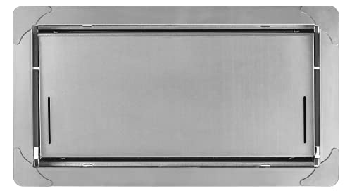 """Smart Vent Insulated Foundation Flood Vent, FEMA Compliant and ICC-ES Certified - Model 1540-520, 16"""" x 8"""" (Stainless Steel)"""