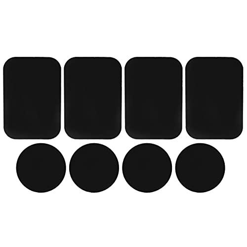 Piastra porta telefono, piastra metallica di montaggio facile da rimuovere superficie liscia 8 pezzi per smartphone per supporto magnetico per telefono magnetico per auto