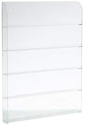 Cq acrylic 72 bottles of 5 layers nail polish rack Clear,Pack of 1
