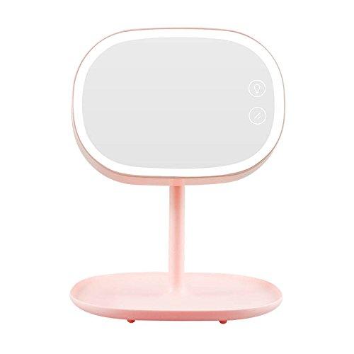 CanKun LED Miroir De Maquillage Miroir avec Écran Tactile Rechargable LED Lampe De Bureau Bureau Table Stand Lampe Lampe De Lit USB Chargeur Rotation 180 ° , pink