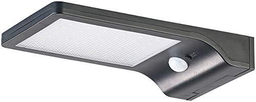 Lunartec Solar Lampe aussen: Solar-LED-Wandleuchte mit PIR-Sensor & Nachtlicht, IP44, 350 Lumen (Solarleuchte aussen)