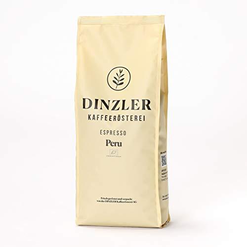 Dinzler Kaffeerösterei, Espresso Peru Organico, 1 kg, Espressobohnen, DE-ÖKO-037