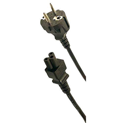 odedo Goobay - Cable de alimentación (1,8 m, 3 pines, CEE 7/7 a IEC C5), color negro