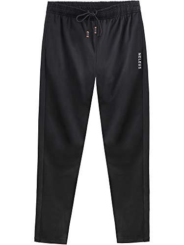 Neleus Men's Athletic Workout Running Pants,7006,One Piece of Black,2XL
