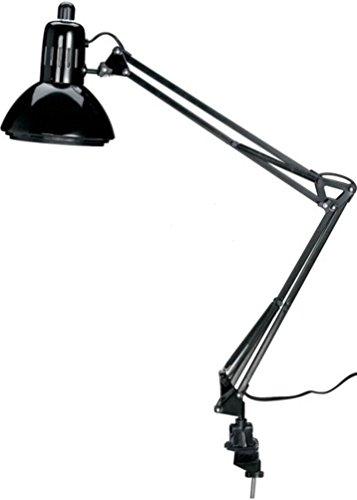 Alvin, Swing-Arm Lamp, Spring-balanced for Drafting Lamp Combination, 100 WATT - Black