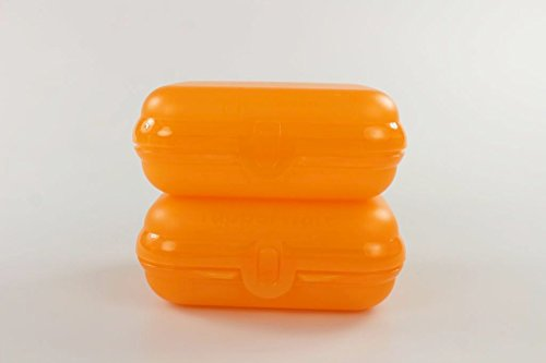 TUPPERWARE To Go Twin orange Brotdose klein Größe 2 Lunchbox Twin (2) Dose P 24012