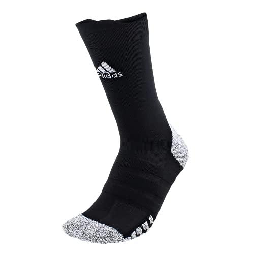 adidas Alphaskin Traxion - Calcetines ligeros acolchados (1 par), Unisex, Crew Sock-Team, 976749, negro/blanco, Medium