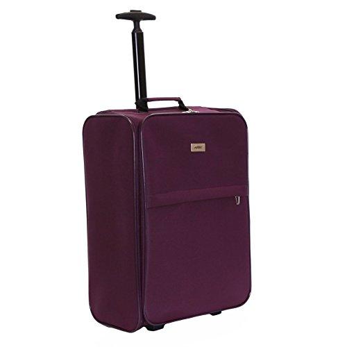 Karabar Trento 55 cm maletero de mano plegable, Púrpura