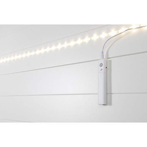Preiswert&Gut 2X Lichtband 36 LED mit Bewegungsmelder Batterie selbstklebend 120cm Lichtleiste Zuschneidbar