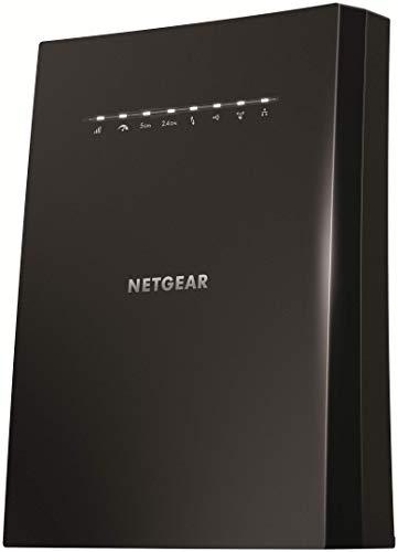 Netgear WLAN Mesh Repeater EX8000 WLAN Verstaerker & Super-Boost WiFi (AC3000 Tri Band, Abdeckung 5 bis 6 Räume & 50 Geräte, Geschwindigkeit bis zu 3000 MBit/s, smartes Mesh WLAN Roaming)