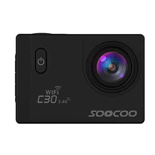 Alician SOOCOO C30R Cámara de acción deportiva Wifi 4K Gyro 2.0 pulgadas pantalla LCD 30M impermeable ángulo ajustable cámara