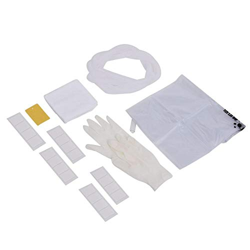Juego de cubierta de aire acondicionado de pared Cubierta de limpieza de aire acondicionado a prueba de agua, con puerto de drenaje Juego de cubierta de aire acondicionado con guantes de toalla de man
