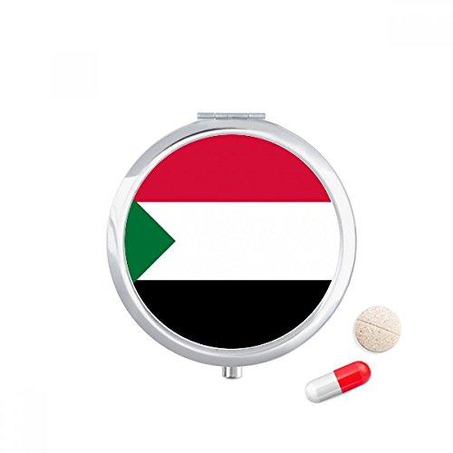 DIYthinker Sudan Nationale Vlag Afrika Land Reizen Pocket Pill case Medicine Drug Storage Box Dispenser Spiegel Gift
