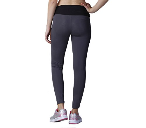 FLINGR Womens Gym Active Wear Leggings Full Ankle Length Workout Tights Jeggings High Waist Stretchable Sports Yoga Fitness Track Pants for Girls and Ladies (Small, Charcoal Grey)