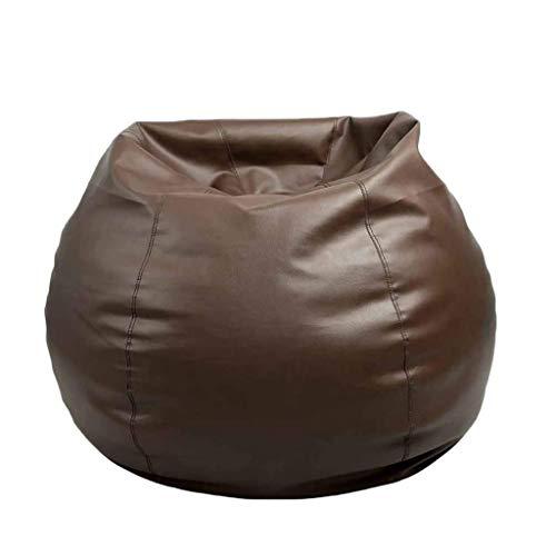 WALNUT Sofás Perezosos de Cuero pequeños Grandes Cubren sillas sin Relleno Tela de Lino Tumbona Asiento Puf Puff Sofá Tatami Sala de Estar (Color : Brown, Size : 90)
