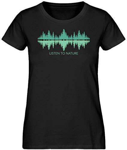 HOLZBRÜDER® Sound of Nature Forest damski drewniany t-shirt idealny do pracy z piłą łańcuchową w lesie