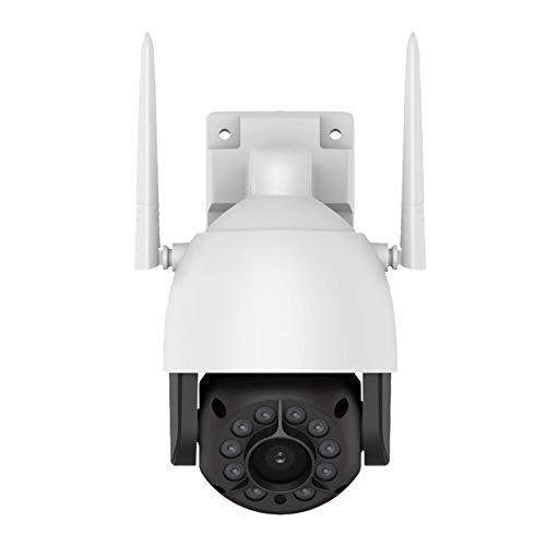 Andifany 5 Millones de Redes InaláMbricas HD una Prueba de Agua para Exteriores 2K Dome 32G CáMara de Red de Vigilancia Fuente de Luz Dual (Enchufe de la EU)