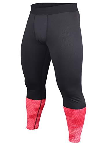 ALTE PRESTAZIONI - Questo leggings a compressione ha un'elasticità e una durata eccellenti, fornisce supporto muscolare per fianchi, quadricipiti, muscoli posteriori della coscia e polpacci. Ti aiuterà a ridurre l'affaticamento muscolare e il dolore ...