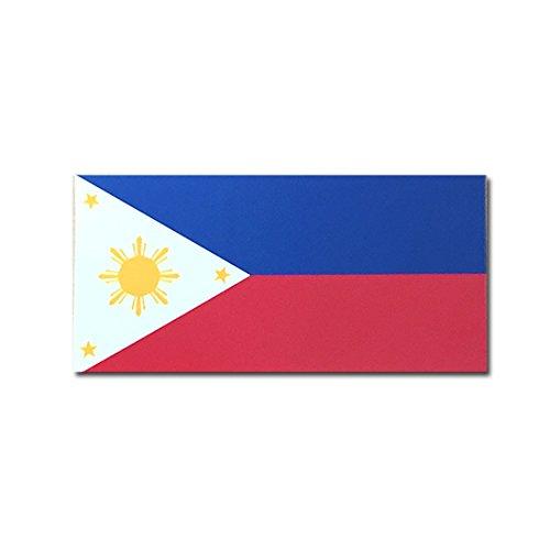 フィリピン 国旗 ステッカー ( スーツケース ・ 車 にも貼れる 防水 シール ) (L 約133mmx67mm)